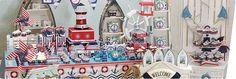 Festa Marinheiro Navy. Artigos Decoração Festa Marinheiro Navy