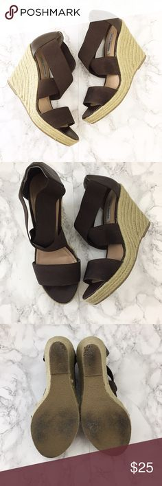 72983c19240 Steve Madden espadrille wedge Good used condition. Brown elastic banded  slip on style. Wear