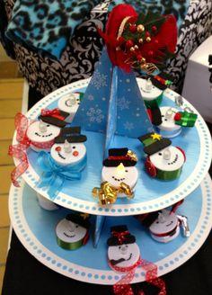 Snowman tea lights