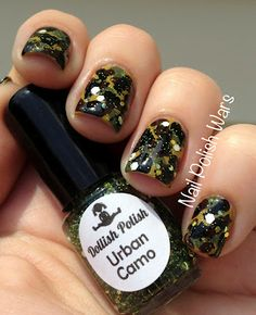 Nail Polish Wars - Camo - I love this blog...