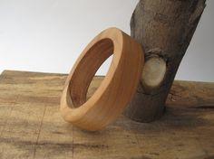 Wooden Bangle Bracelet 5th Anniversary Gift for Her by psItsDebbie