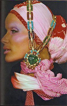 Verushka / by Frank Horvat, Harpers Bazaar, 1960's
