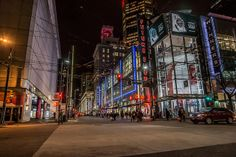Granville Street x Robson Street, Downtown Vancouver BC by trainerKEN., via Flickr