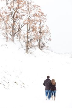 Winter engagement photos--by Brandon Burk Photography