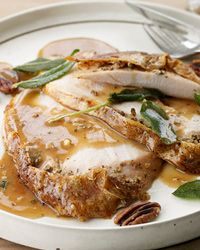 this is the turkey I'm making. if it tastes as good as the sage pecan butter portion that i tasted, it will be phenomenal.