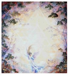 Angel of the Star by Cynthia Rose Young. I have a board of her art! Mandala Painting, Angel Art, Spiritual, Angels, Star, Rose, Artwork, Prints, Beautiful