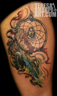 Nice Dream Catcher Tattoo