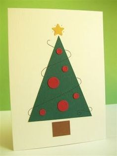 Postales de Navidad Fáciles                                                                                                                                                                                 Más Christmas Cards To Make, Noel Christmas, Xmas Cards, Diy Christmas Gifts, Holiday Crafts, Christmas Decorations, Mothers Day Cards, Valentine Day Cards, Easter Arts And Crafts