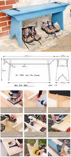 Shaker Style Bench Seat Plans - Outdoor Furniture Plans and Projects | WoodArchivist.com