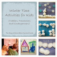 The Stay-at-Home-Mom Survival Guide: Winter Time Activities for Kids