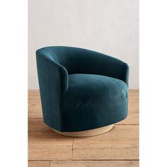 Anthropologie Velvet Amoret Swivel Chair (1,460 CAD) ❤ liked on Polyvore featuring home, furniture, chairs, blue green, anthropologie, velvet swivel chair, spinning chair, swivel chairs and aqua chair