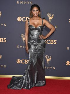 58ee190b735b32 Laverne Cox may be going for the gold tonight with her