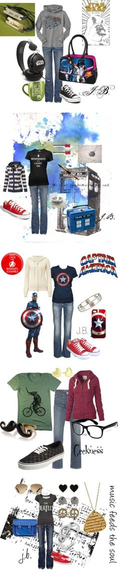 """geek girl style"" by chicgeek42 on Polyvore"
