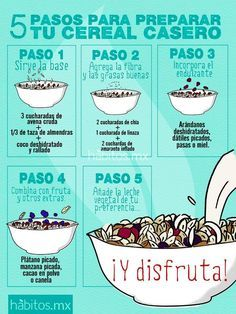 5 PASOS PARA PREPARAR EL CEREAL CASERO.-¡