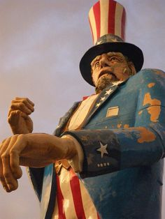 Magic Forest - Lake George NY... At 38 feet tall, this is the world's largest Uncle Sam statue.