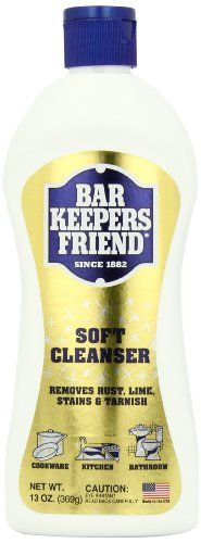 Use Bar Keepers Friend every day in kitchen and bath to keep surfaces clean and shiny. Its non-bleach formula removes tough stains, too. Available at OurPamperedHome.com