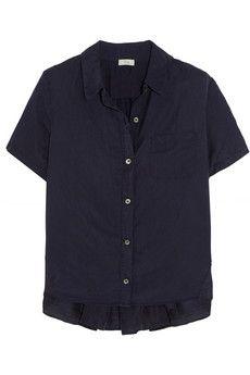 CLU Ruched silk and cotton-blend shirt | NET-A-PORTER