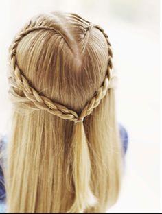 Lovely Locks: Heart Braid Hair Tutorial for Valentine's Day! | Skinny Mom | Tips for Moms | Fitness | Food | Fashion | Family