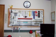 Diana natters on... about machine knitting: Marge Coe's Knitting Room  So organised