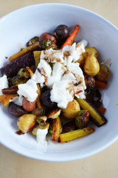 Herb Roast Vegetables with Buffalo Mozzarella and Balsamic Drizzle
