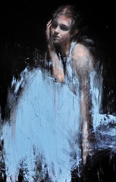Credit: Mark Demsteader/Courtesy Panter & Hall Gallery Study for a painting 2 Oil on board 'I thought I'd do quite a few portraits in different media, studying her movement and the way she is,' says Demsteader. 'The poses she came up with [for the photographs he worked from] were very nice'