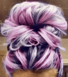 Pinky purple doughnut high bun