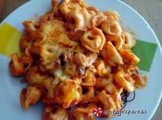 Τορτελίνια με ντομάτα στο φούρνο #sintagespareas #tortelinia #zimarika #fournou