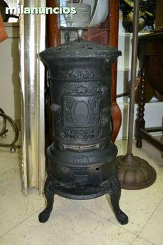 Antigua estufa de le a restaurada hierro fundido - Estufas de lena de hierro ...