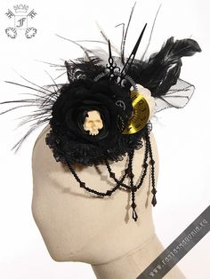 45,90e Steampunk mini hat - hair accessory with