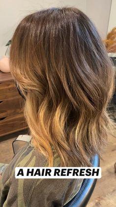 Copper Highlights On Brown Hair, Hair Highlights, Hair Barrettes, Hair Clips, Brown Shoulder Length Hair, 18 Inch Hair, Bushy Hair, Haircuts Straight Hair, Really Long Hair