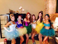 Cute DIY Halloween costume idea for adults. Disney princesses with tutus. Too cute..