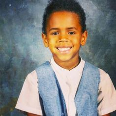 Chris Brown, As a throwback Thursday picture, Chris Brown posted this photo and seriously, how precious was he? Trey Songz, Big Sean, Ryan Gosling, Rita Ora, Nicki Minaj, Chris Brown Wallpaper, Chris Brown And Royalty, Chirs Brown, Breezy Chris Brown