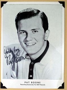 Pat Boone Vintage Early SIGNED Dot Records 5 by 7 BW Press Photo | eBay
