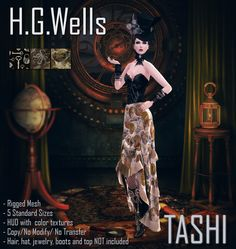 TASHI @ The Instruments May Round   This month the theme of The Instruments is Dolls, Automaton's, Robots and Steam punk so inspired on steam punk specially on one of my favorite TV shows this 2 items where created.