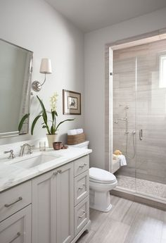 Consider the bathroom in your guest room.