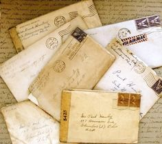 Ephemera Old Love Letters from World War 2 - post marked 1940s. A life held in a letter.  #HerLetters
