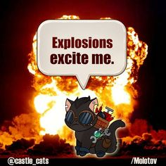 Molotov is a demolitionist - his girlfriend is called TNT! ;)