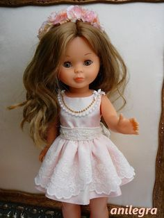ANILEGRA COSE PARA NANCY: MAGNOLIA vestido de ceremonia para Nancy American Girl, Nancy Doll, Disney Dolls, Little Doll, Cute Dolls, My Children, Doll Clothes, Flower Girl Dresses, Glamour