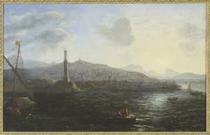 The Port of Genoa, View from the Sea  Claude Lorrain