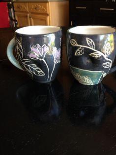 More new cups-slip scrafito
