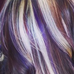 brown blonde and purple hair - Google Search