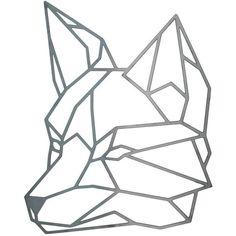 Geometric Fox, Steel Geometric Fox, Fox Wall Art, Metal Fox, Steel... (€76) ❤…