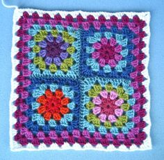 granny square from Lucy love those colors