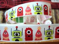 7/8 Yo Gabba Gabba Grosgrain Ribbon - 3 yards $3.75