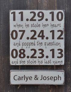Barn Style Wedding Sign, Personalized Engagement Gift,Wedding Gift, Engagement Present, Bridal Shower Gift, Custom wood wedding sign via Etsy