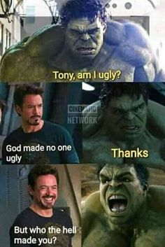 Marvel is at the top of ladder when it comes to movies. Out of these amazing movies of marvel, we can make as many memes as we want to because memes will be perfect at topics which are famous worldwide. Here are 22 Marvel memes clean. Avengers Humor, Marvel Jokes, Funny Marvel Memes, Dc Memes, Memes Humor, Funny Comics, Hulk Memes, Funny Humor, Find Memes