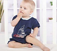 Newborn Baby Toddler Boy Ship Cotton Short Sleeve Bodysuits Romper Jumpsuit 3-6M #ibaby #Everyday
