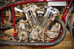 Burt Munro Special Indian Scout Engine Photograph by Frank Kletschkus