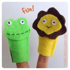 #Títeres dedo :) Diversión para #Niños --> http://losmarcianosllegaron.com/2014/07/titere-dedo-de-fieltro-con-forma-de-ranita/