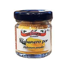 Habanero Pulver - gelb Chili, Salsa, Jar, Food, Goulash, Foods, Yellow, Salsa Music, Chili Powder